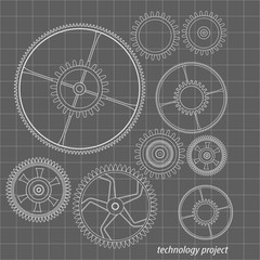 Background technology with gears