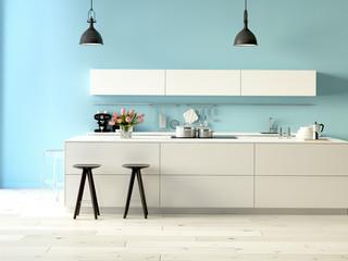 moderne küche. 3d rendering