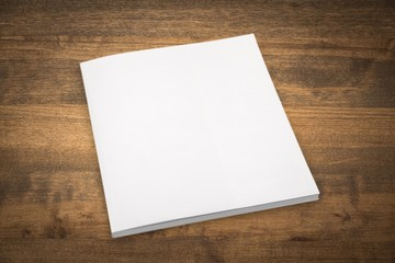 Book. Blank book cover white