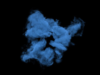 Dark blue smoke on black background