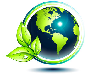 Usa green earth - eco-friendly concept