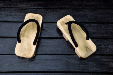 Wood sandals,japanese style shoes