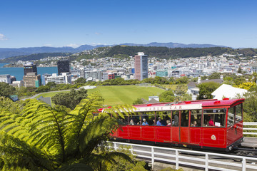 Tuinposter Nieuw Zeeland View of the Wellington, New Zealand