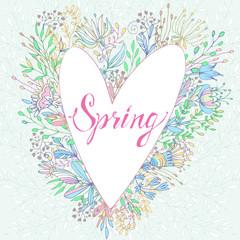 Spring cute greeting card