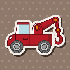 transportation tow truck theme elements