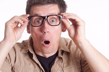 Mann mit Nerd Brille