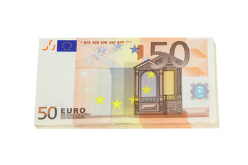 Euro bank note background