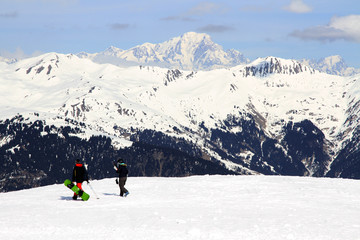 Winter sport holiday in the Alps