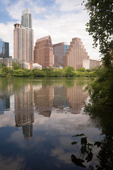 New Construction Building Highrise Office Towers Austin Texas