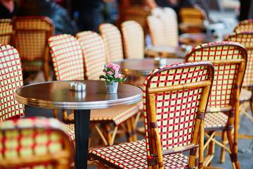 Table of cozy Parisian restaurant