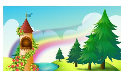 Castle and rainbow