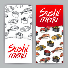 two covers for sushi menu - 2