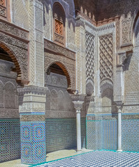 Inner courtyard of a Moroccan medersa
