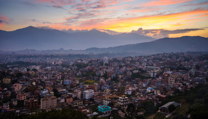 Kathmandu City in the evening, Nepal