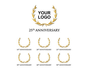 anniversary element gold logo 10-50
