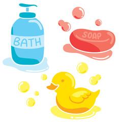 set of bathing stuff