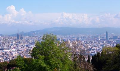 Barcelona city from Monjuic. Catalonia