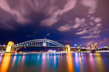View of Sydney Harbor at night