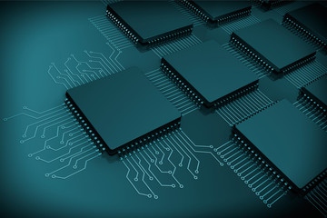 CPU Microchips as Circuit