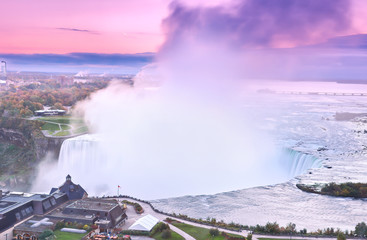 Garden Poster View of Niagara Falls at dawn