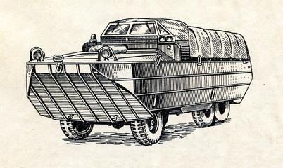 Large amphibious vehicle