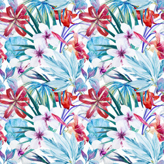 Lily an hibiscus flower pattern