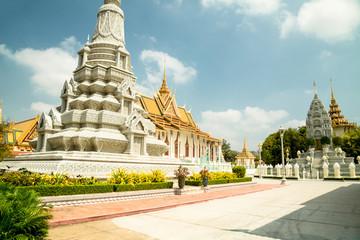 Cambodia Royal Palace, Silver Pagoda and stupa