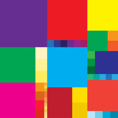 Abstract ornament of colored squares