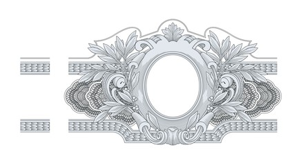 Border Frame Engraving vector
