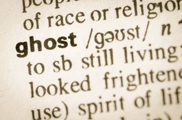 Dictionary definition of word ghost