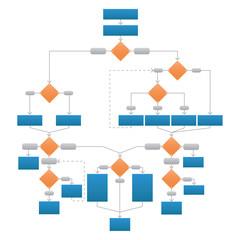 Clean Corporate Flowchart  Vector Illustration