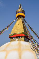 Boudhanath stupa , Kathmandu , Nepal.