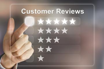 image of customer reviews on food app
