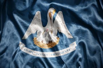 shining louisiana state flag