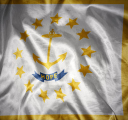 shining rhode island state flag