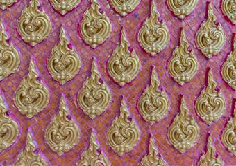 Thai art wall pattern illustrations