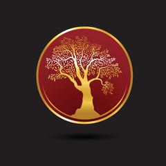 Tree logo template. Growing business concept esp10