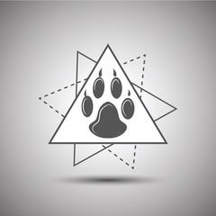 Animal footprint logo isolated on white background