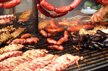 Barbeque assorted meat in spanish style