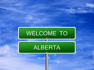 Alberta Province Welcome Sign
