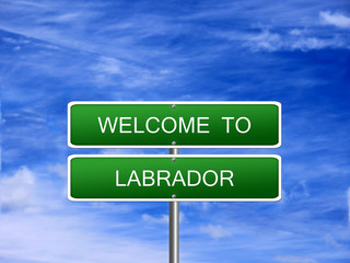 Labrador Province Welcome Sign