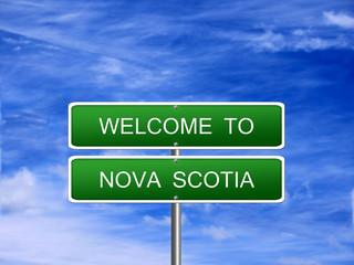 Nova Scotia Welcome Sign
