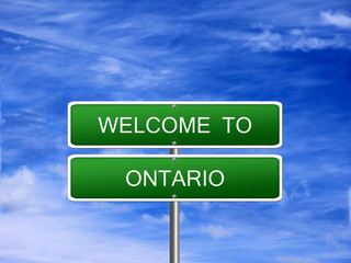 Ontario Province Welcome Sign