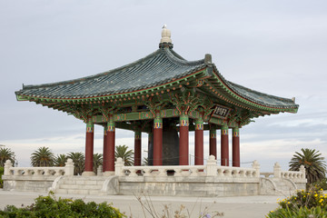 korean temple with bell