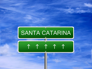 Santa Catarina State Sign