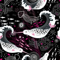 pattern narwhals