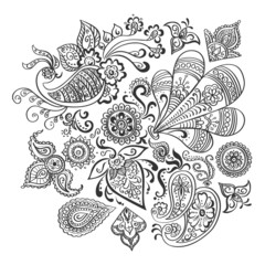 Indian floral ornament