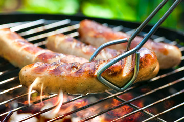 Aluminium Prints Grill / Barbecue Grilled Sausage