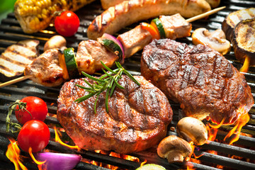 Acrylic Prints Grill / Barbecue Grill