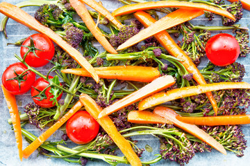 Roasted Broccoli,carrot and tomatoes